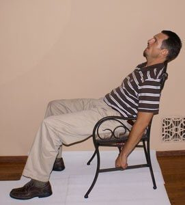 1.Inclining Back Sit to Relax