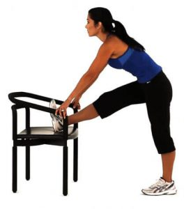 12. Hamstring stretch for sciatica pain