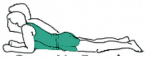15. lying back extension