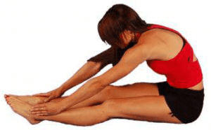 3. Seated hamstring stretch