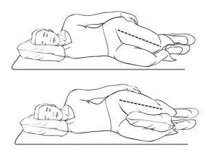 5. Sleeping on side with pillow support