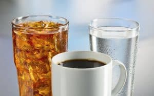 7. Plain water coffee soda