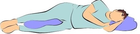 1. Sleep on sides for sciatica