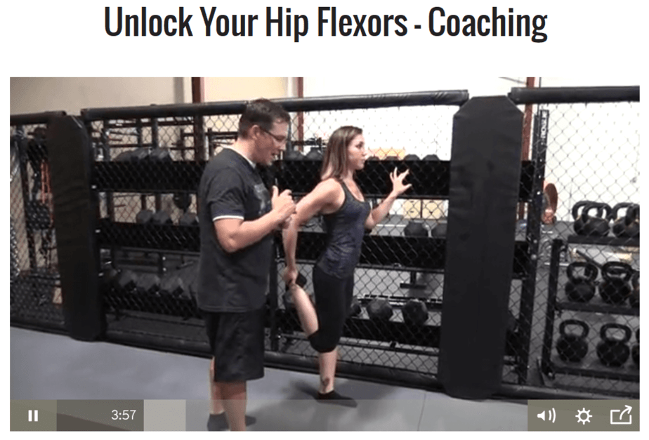 13. unlock your hip flexors coaching video
