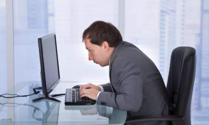 6. working sitting