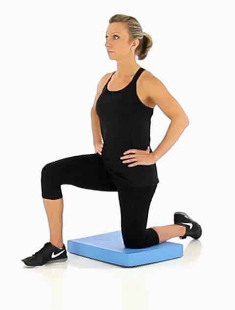 2. Kneeling hip flexor stretch