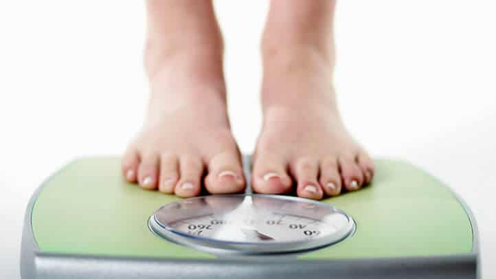 8. Scale weight loss