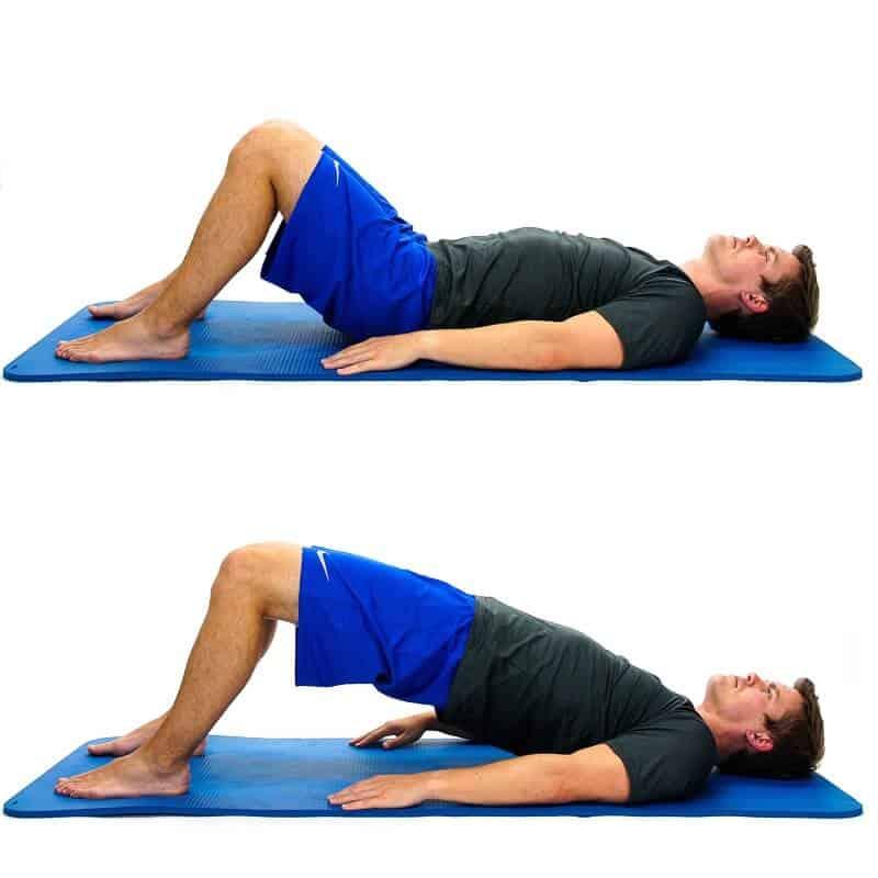Bridge exercise anterior pelvic tilt